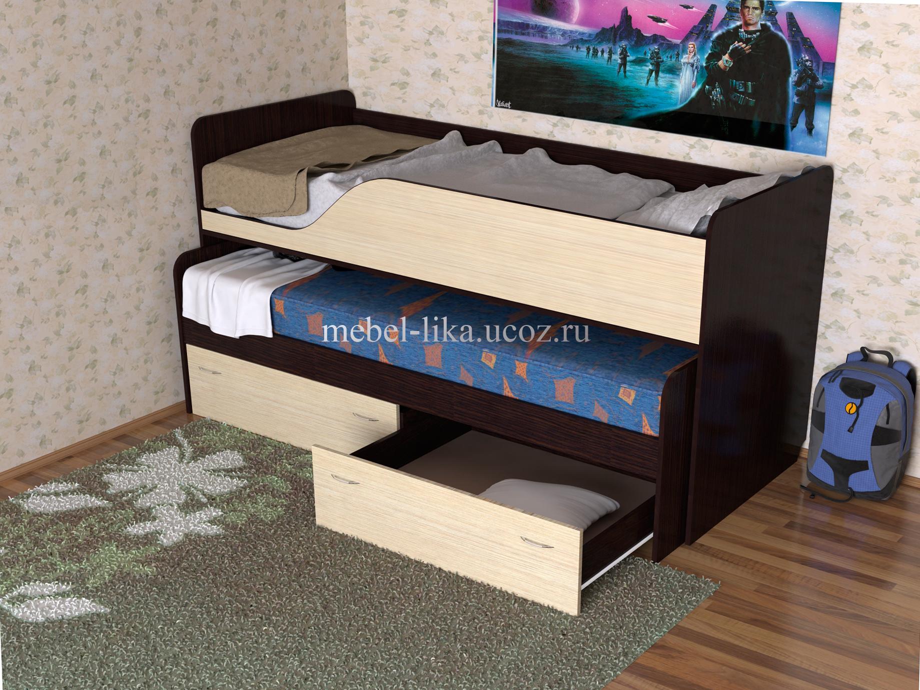 Кровать выдвижная двухъярусная своими руками